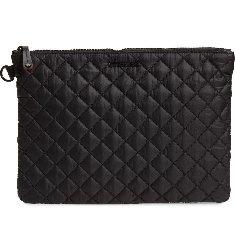 MZ WALLACE Metro Pouch, Main, color, BLACK/ BLACK - Hello Lovely Over 40 Winter Skin Care, Beauty & Wardrobe Essentials!