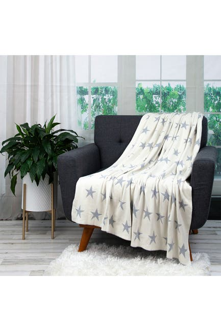 """Image of Parkland Collection Transitional Grey 52"""" x 70"""" Knitted Throw Blanket"""