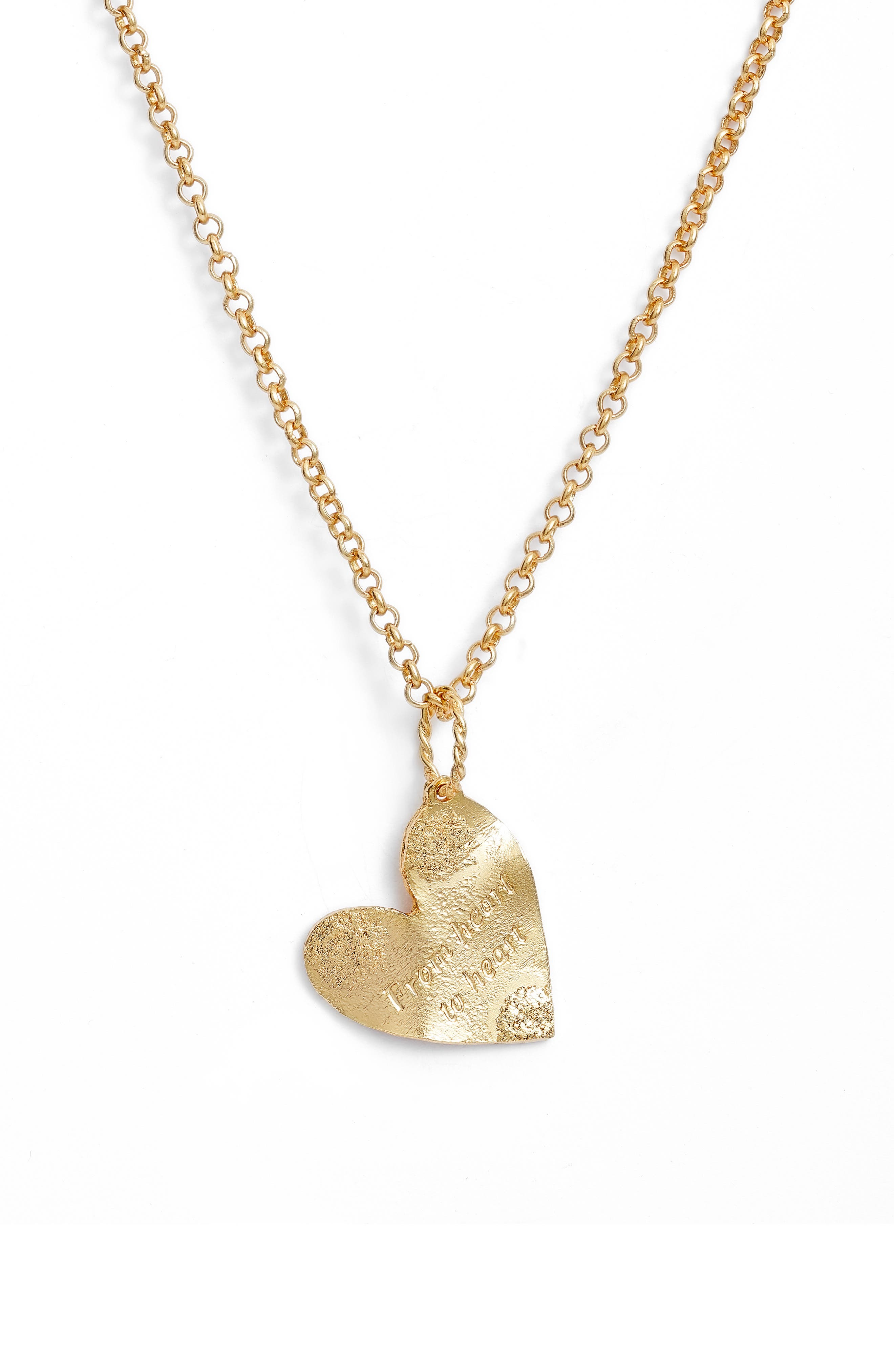 Imperfection Heart To Heart Pendant Necklace