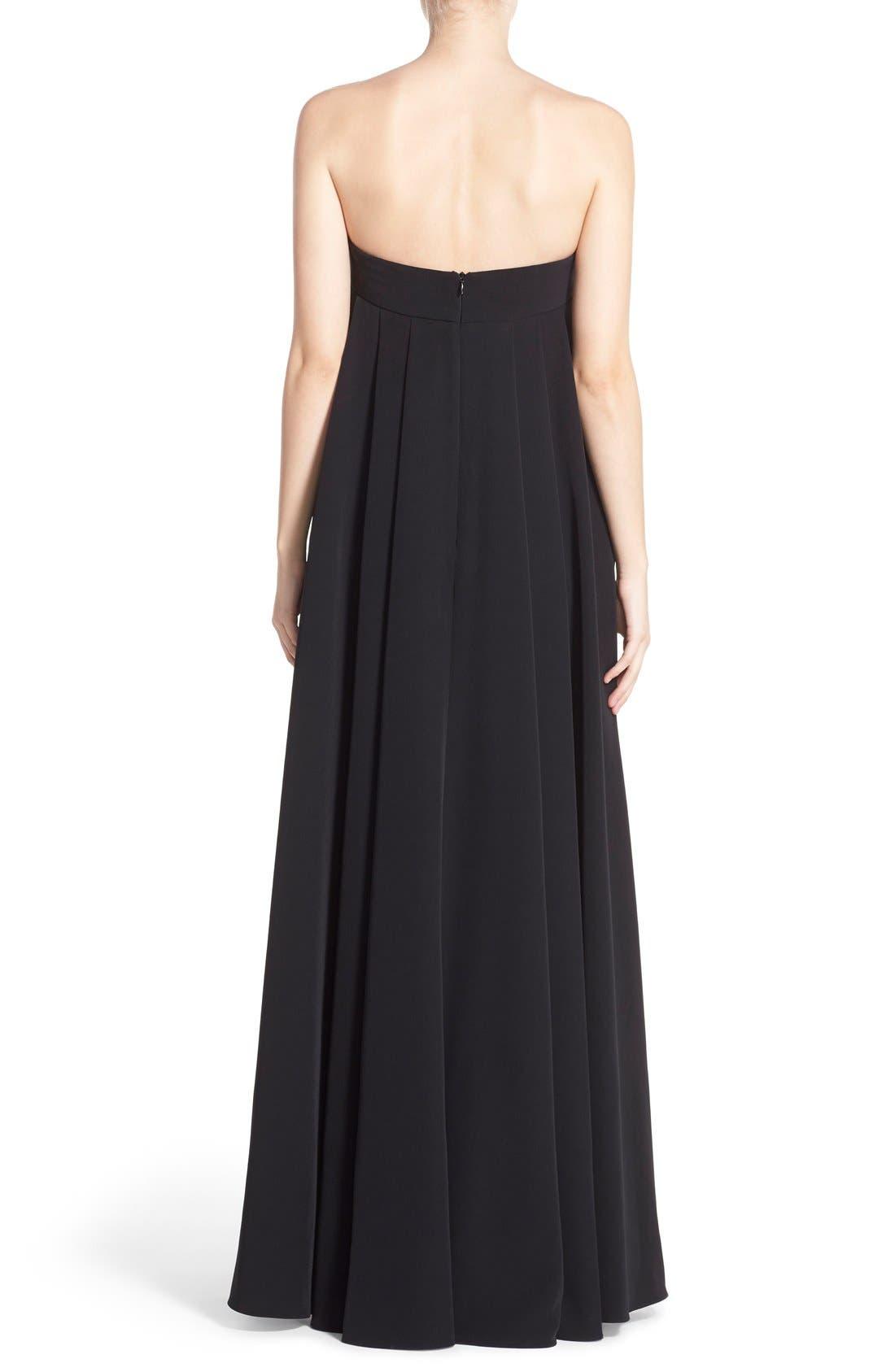 ,                             'Vanessa' Strapless Maxi Dress,                             Alternate thumbnail 2, color,                             001