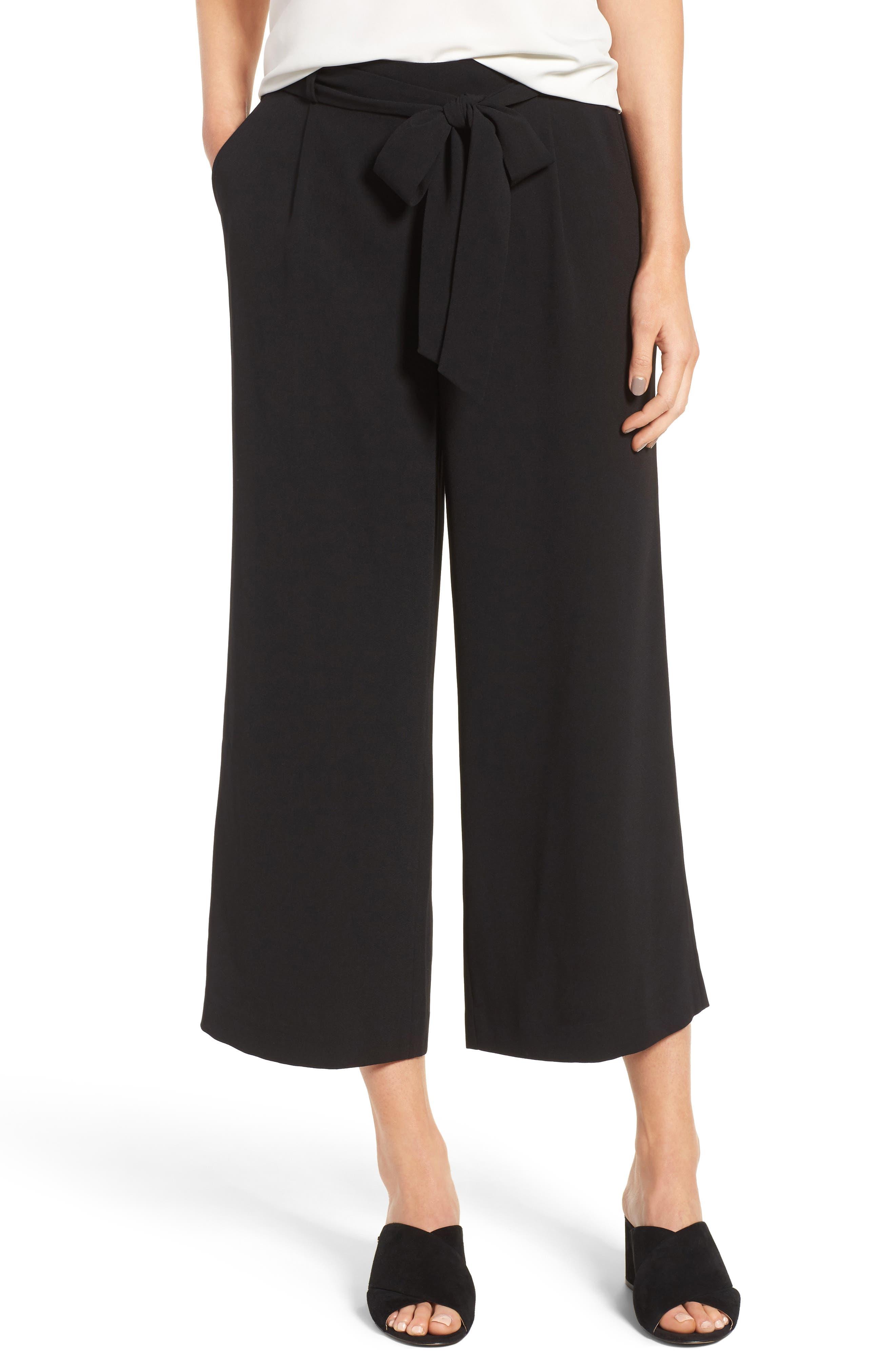 Image of Halogen® Wide Leg Crop Pants