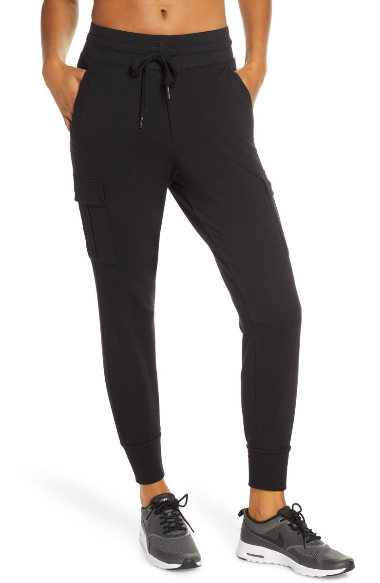 ZELLA Carter Cargo Jogger Pants, Main, color, BLACK
