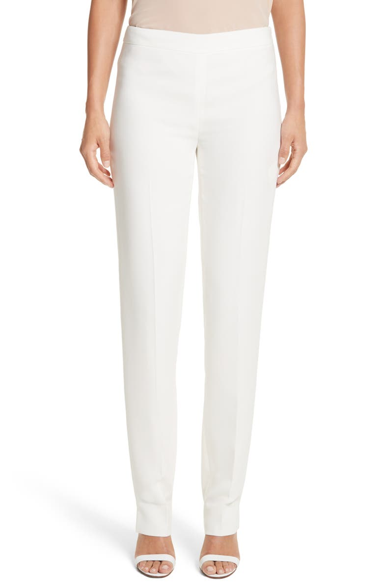 LAFAYETTE 148 NEW YORK 'Bleecker - Finesse Crepe' Pants, Main, color, CLOUD