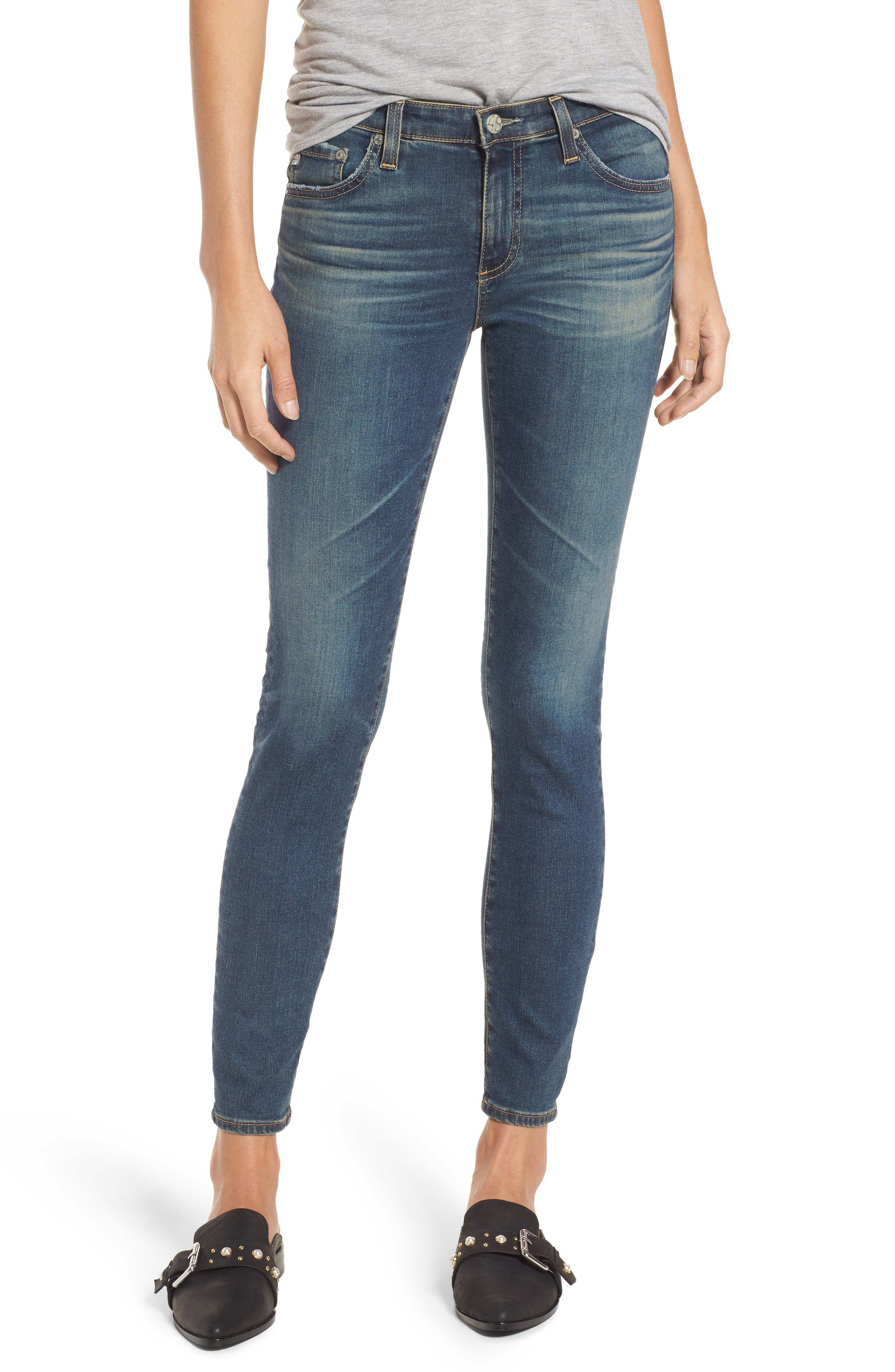 Image of AG The Legging Distressed Ankle Jeans