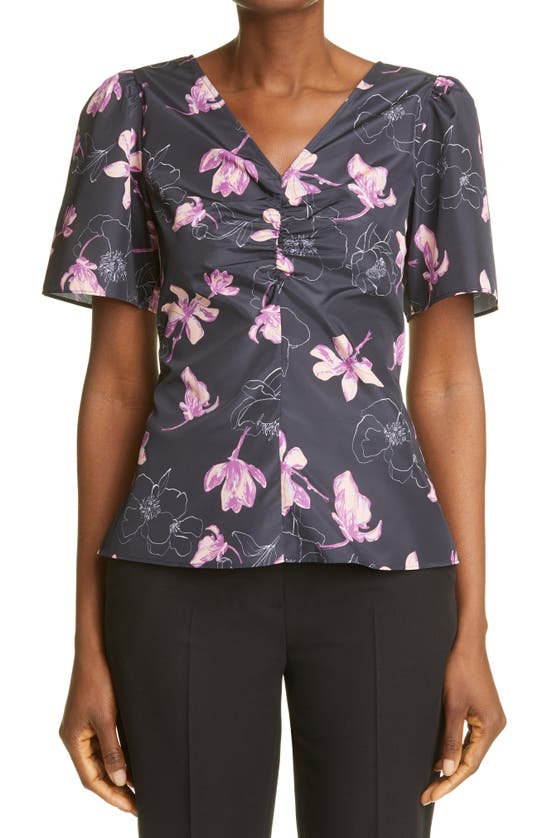 Club Monaco T-shirts RUCHED FRONT WOVEN TOP