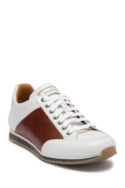 Image of Magnanni Chaz Perforated Leather Sneaker