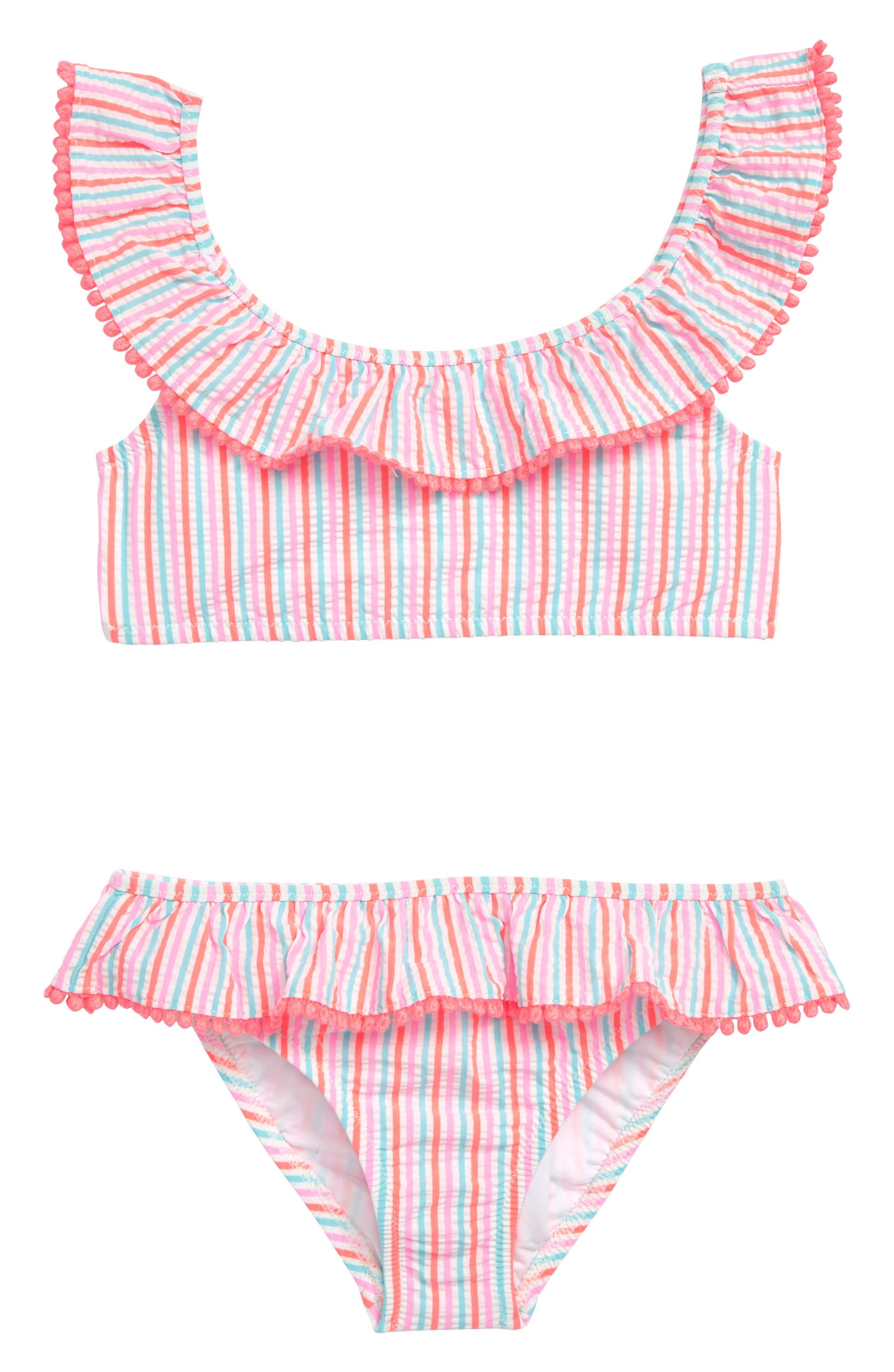 9bf303a36de5b crewcuts by J.Crew Ruffle Seersucker Two-Piece Swimsuit (Toddler Girls, Little  Girls & Big Girls) | Nordstrom