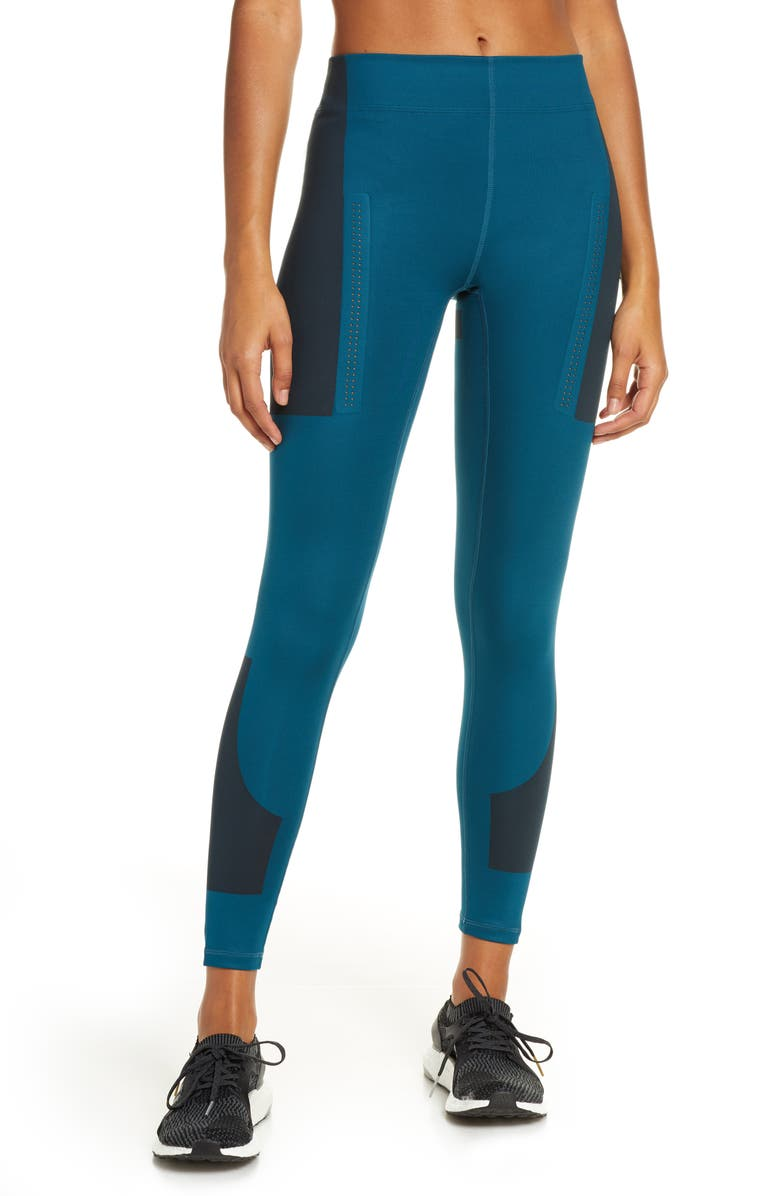 ADIDAS BY STELLA MCCARTNEY FitSense+ Training Tights, Main, color, TECH MINERAL