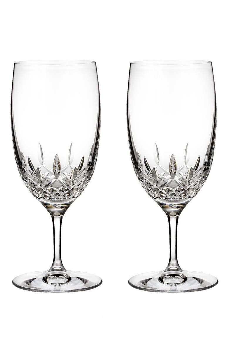 WATERFORD 'Lismore Essence' Lead Crystal Water Glasses, Main, color, CLEAR