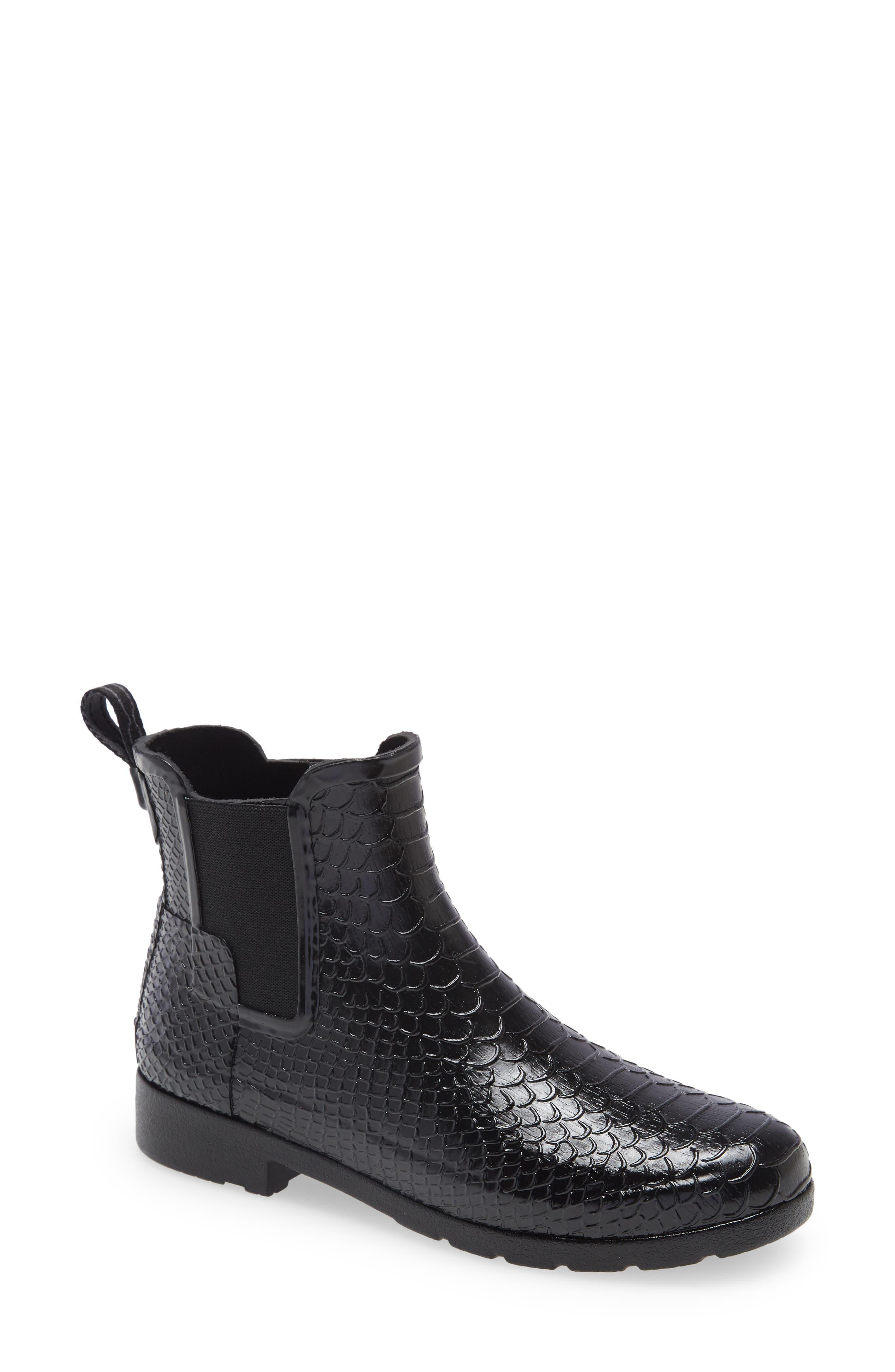 Original Refined Embossed Waterproof Chelsea Rain Boot