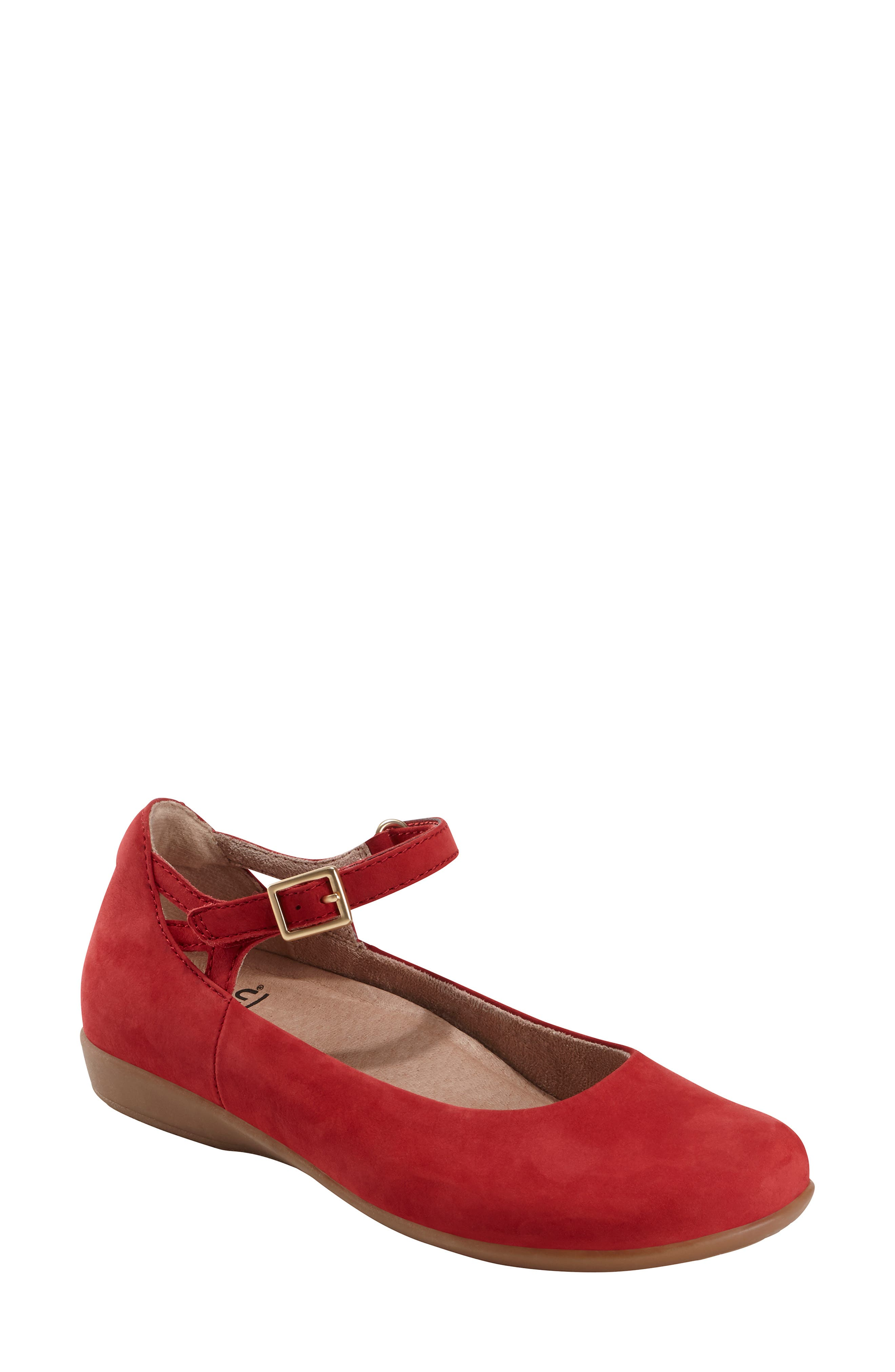 Earth Alma Mary Jane Flat, Red