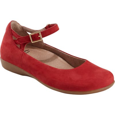 Earth Alma Mary Jane Flat- Red