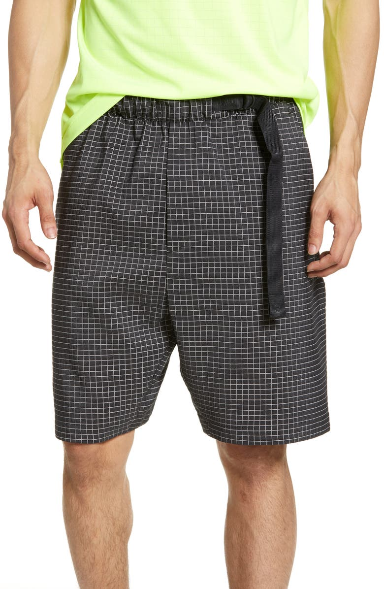 NIKE Sportswear Tech Pack Gridded Athletic Shorts, Main, color, BLACK/ SUMMIT WHITE/ BLACK