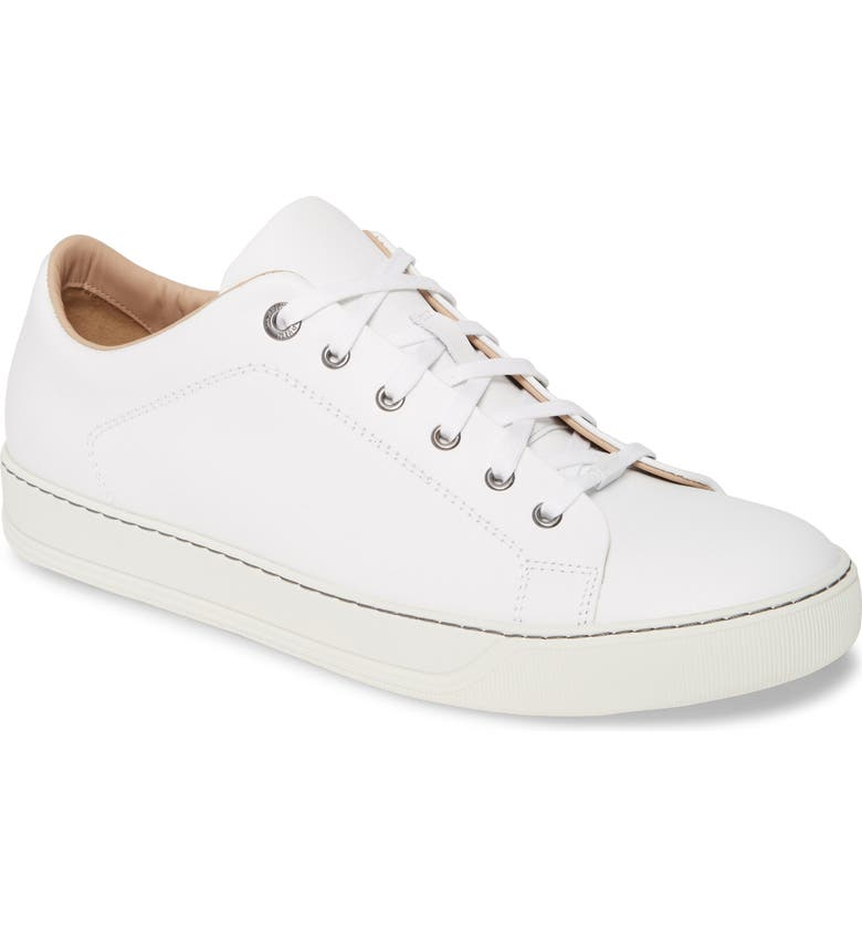 LANVIN Frye Low Top Nappa Sneaker, Main, color, WHITE
