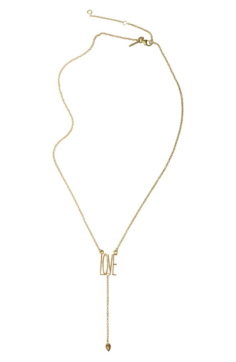 ADORNIA Love Y-Necklace, Main, color, METALLIC GOLD