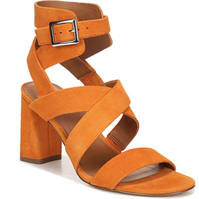 Sarto By Franco Sarto Tristan Strappy Block Heel Sandal- Brown