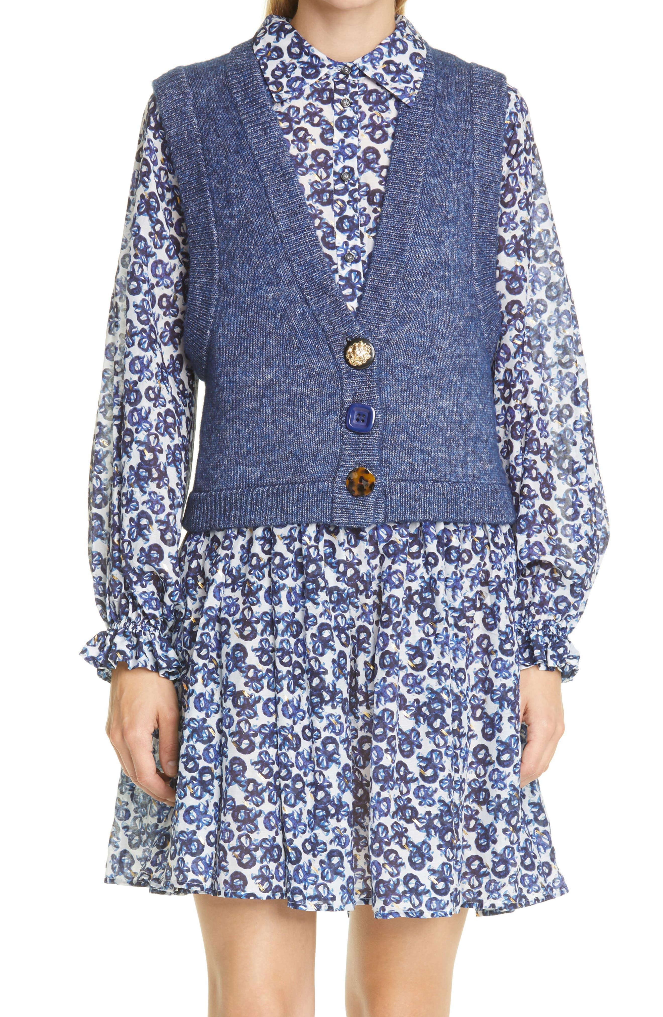 Rowland Cotton & Wool Sweater Vest