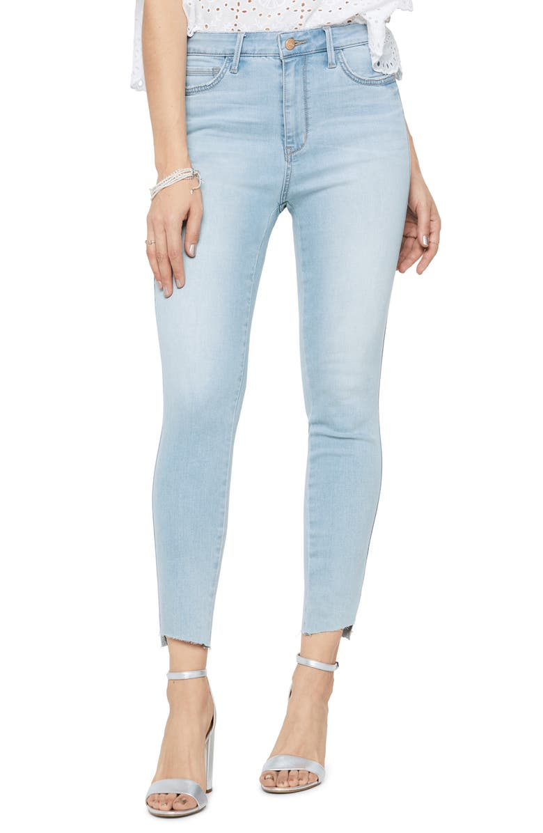 SAM EDELMAN The Stiletto High Waist Step Hem Crop Skinny Jeans, Main, color, GOLDEE