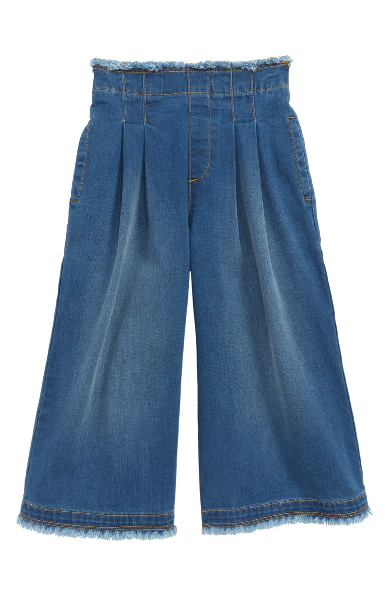 STEM Paperbag Wide Leg Denim Pants, Main, color, 420