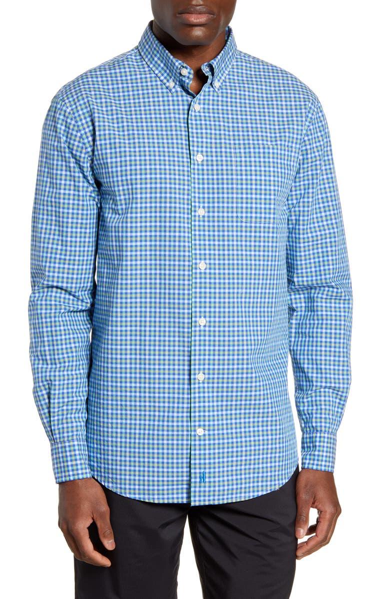 JOHNNIE-O Nina Classic Fit Check Button-Down Shirt, Main, color, 496