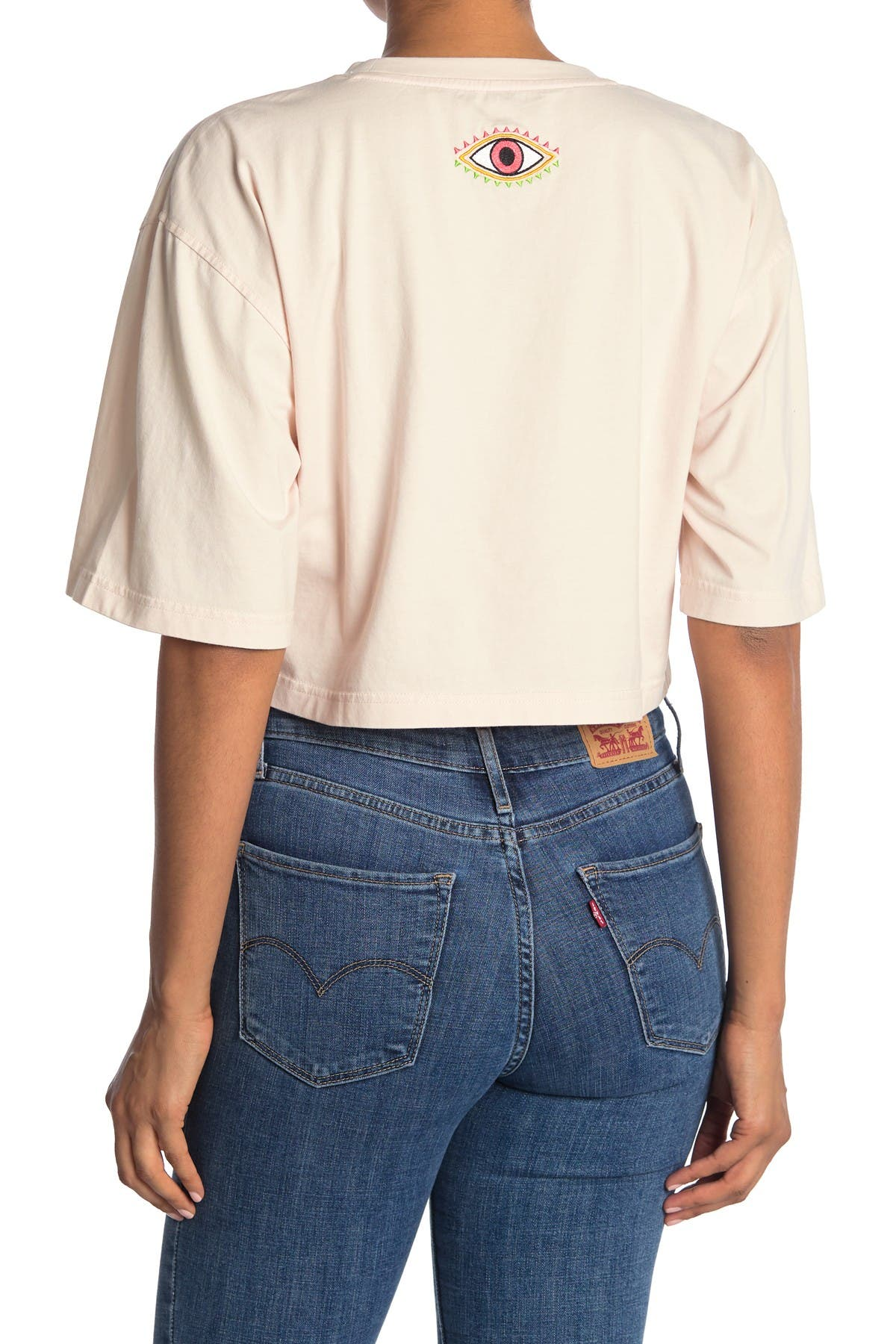 Image of Nicole Miller Cropped T-Shirt