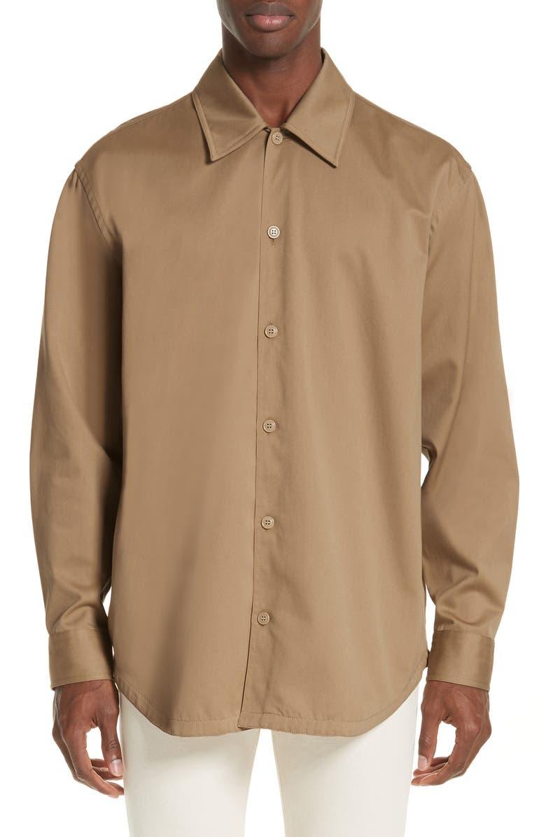 ACNE STUDIOS Houston Oversize Sport Shirt, Main, color, 250