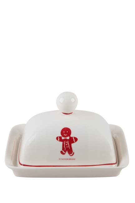 """Image of Home Essentials and Beyond 7"""" L Gingerbread Butter Dish"""