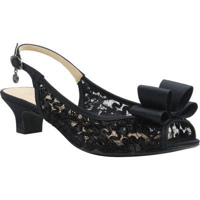 J. Renee Landan Bow Slingback Sandal - Black