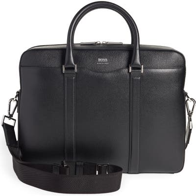 Boss Signature Leather Briefcase -