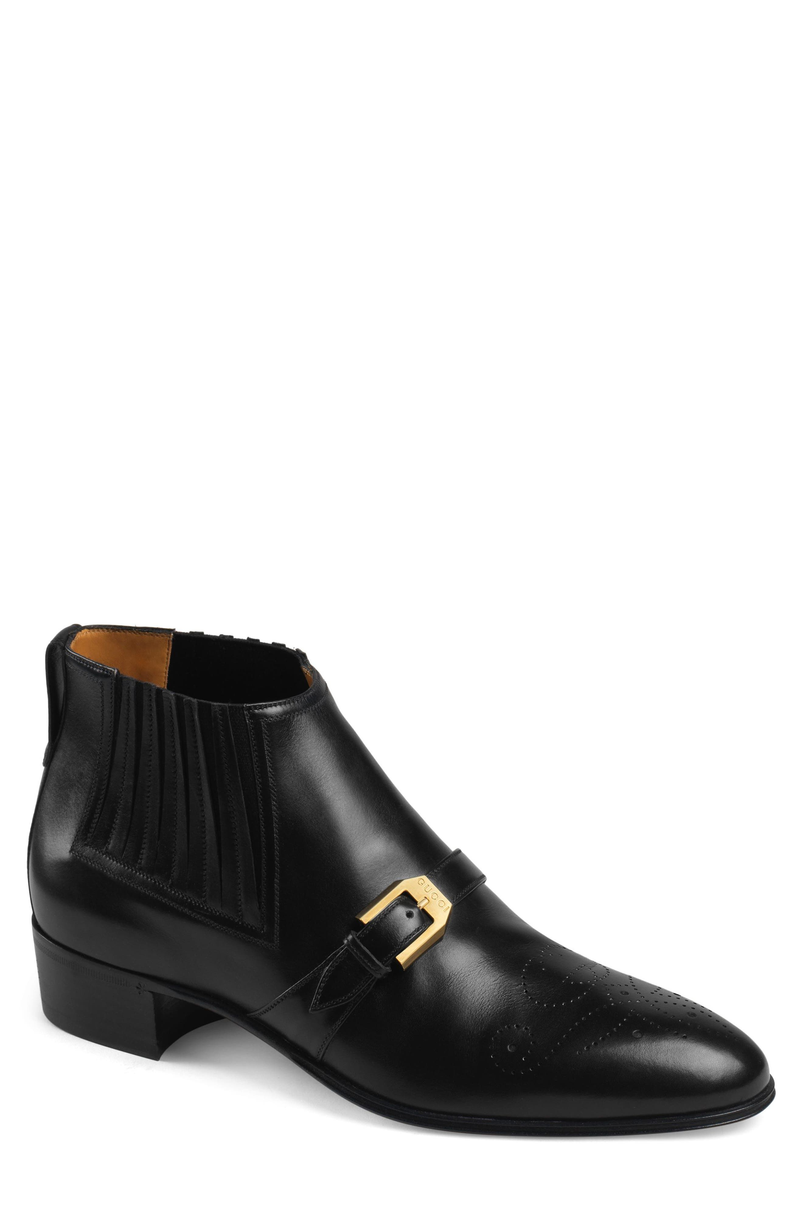 Gucci Worsh Chelsea Boot, Black