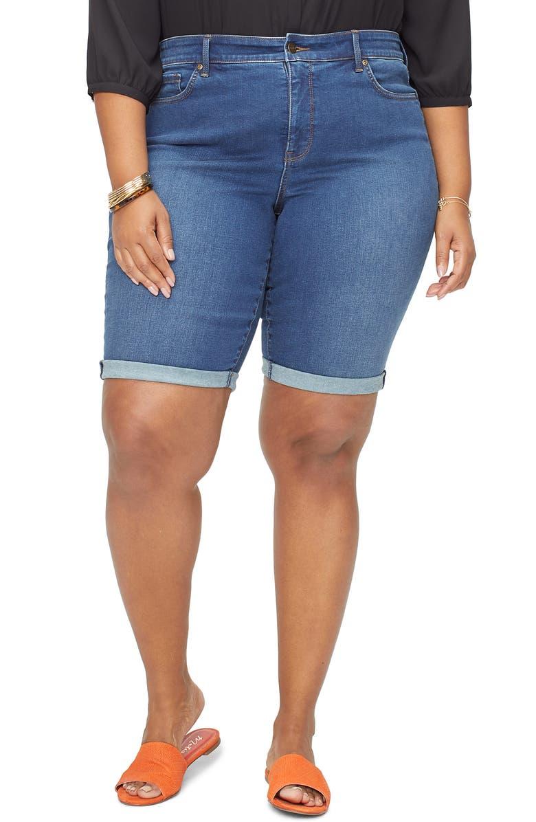 3bd2f77ecd6 NYDJ Briella High Waist Denim Bermuda Shorts (Cooper) (Plus Size ...