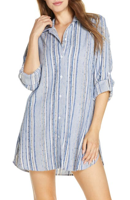 Image of Tommy Bahama Sail Forth Cover-Up Boyfriend Shirt