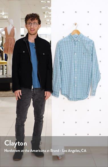 Tucker Classic Fit Windowpane Stretch Shirt, sales video thumbnail