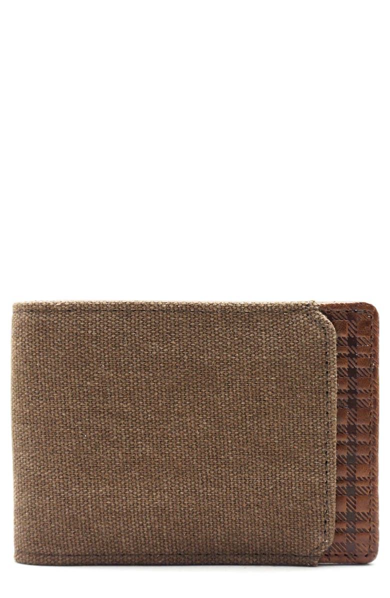 BOCONI Bryant Leather & Canvas Slimster Wallet, Main, color, 210