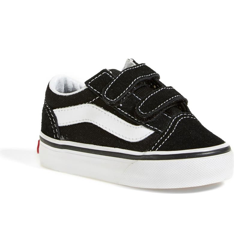 VANS 'Old Skool V' Sneaker, Main, color, BLACK/ TRUE WHITE