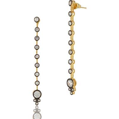 Freida Rothman Double Helix Linear Drop Earrings