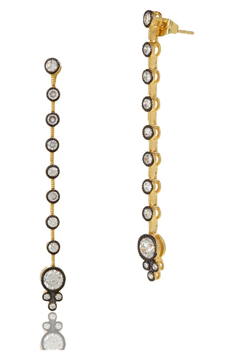 FREIDA ROTHMAN Double Helix Linear Drop Earrings, Main, color, 710