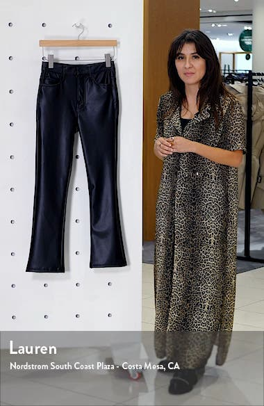 The Insider High Waist Crop Bootcut Faux Leather Pants, sales video thumbnail