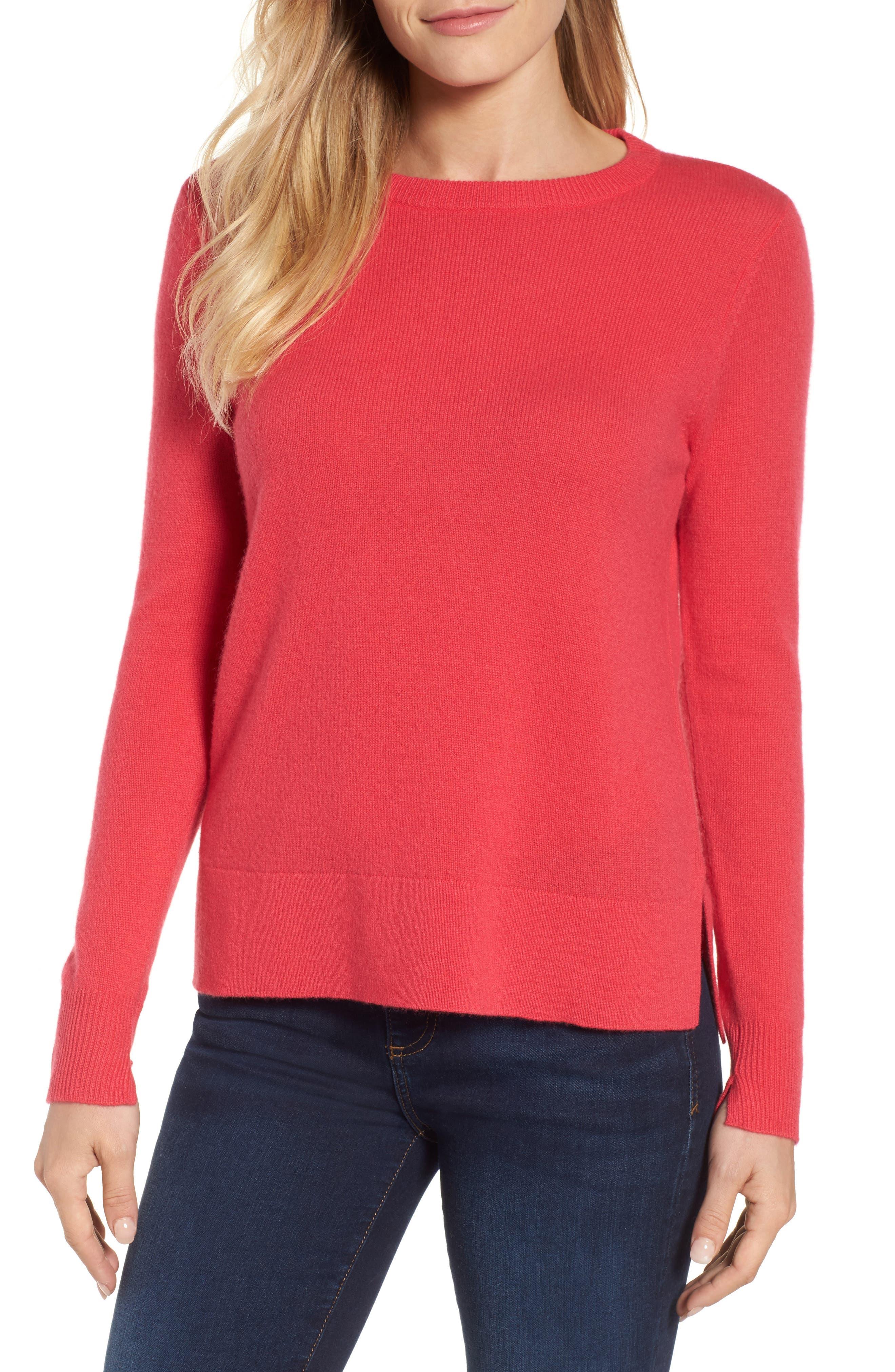 ,                             Crewneck Cashmere Sweater,                             Main thumbnail 162, color,                             650