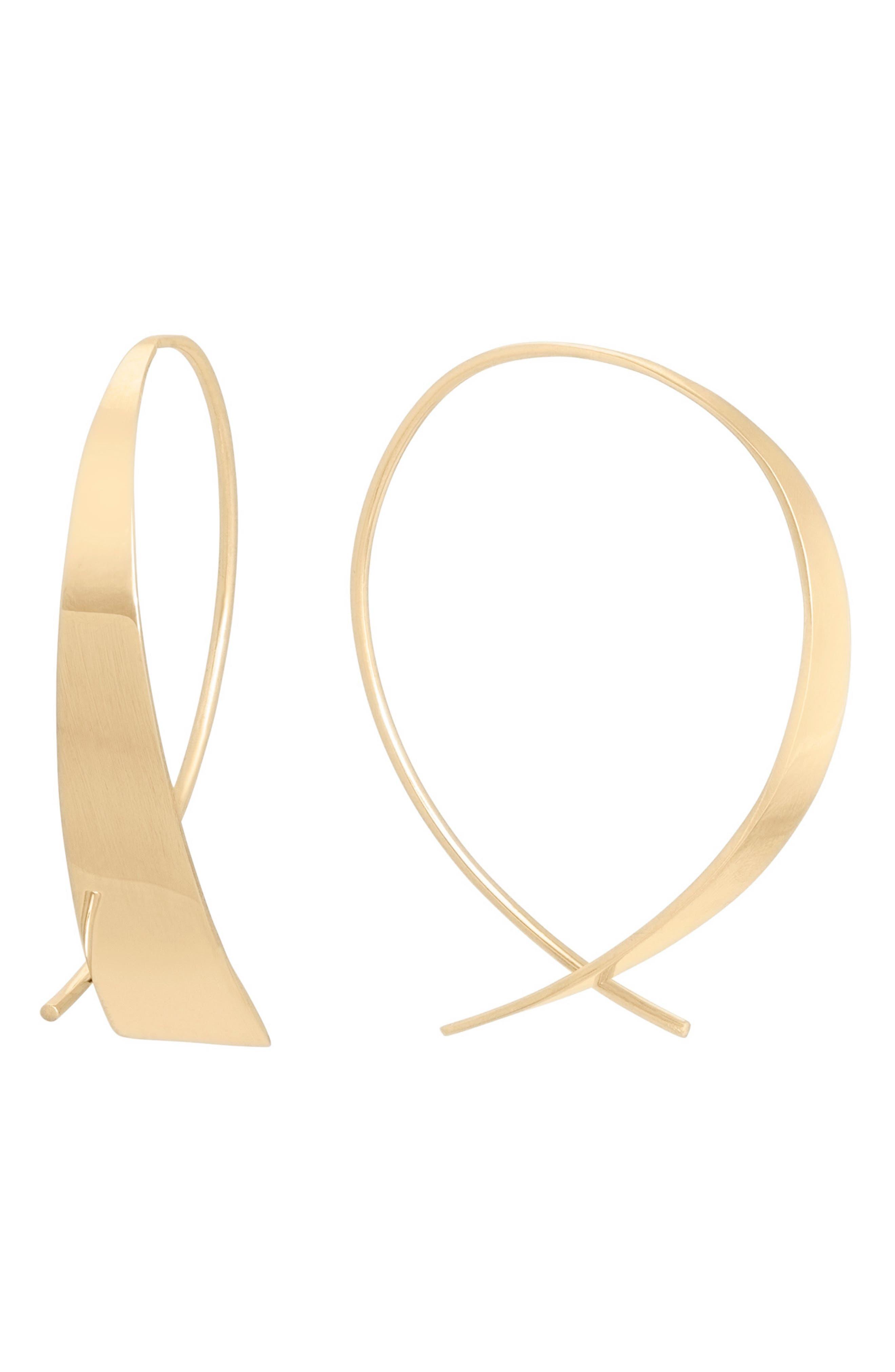 Mini Glam Upside Down Hoop Earrings