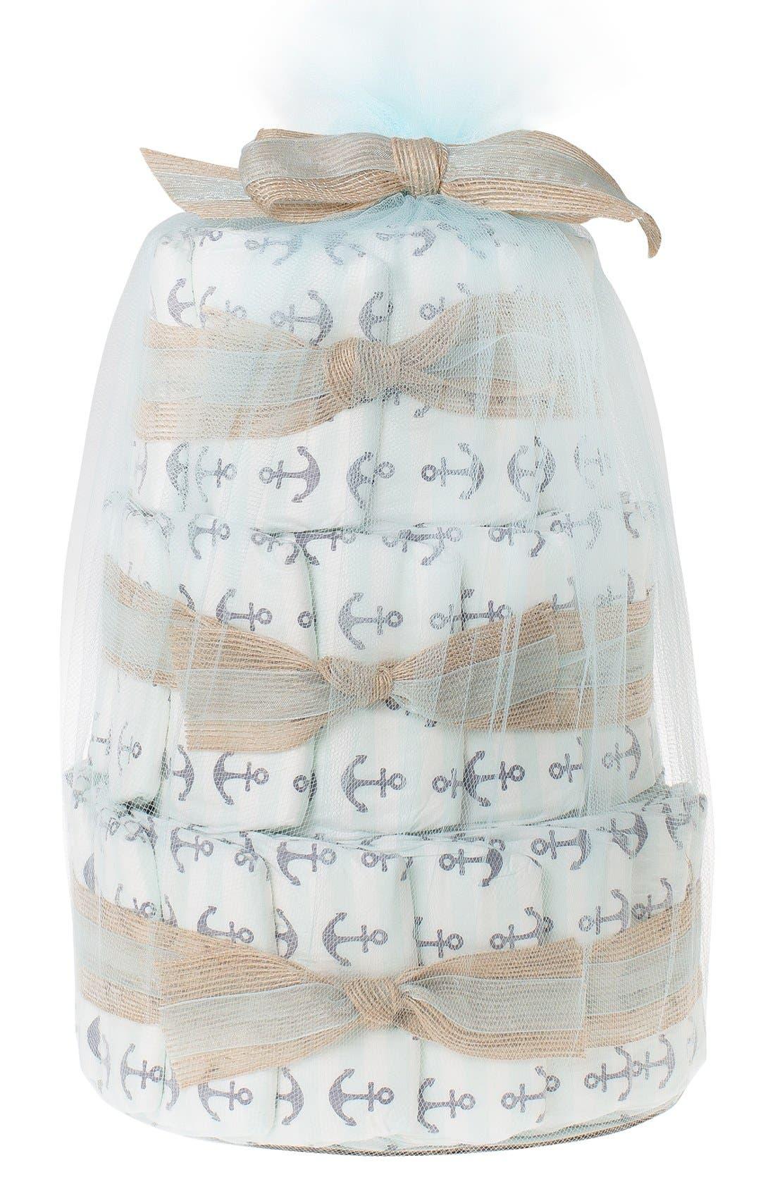 ,                             Mini Diaper Cake & Travel-Size Essentials Set,                             Main thumbnail 12, color,                             400