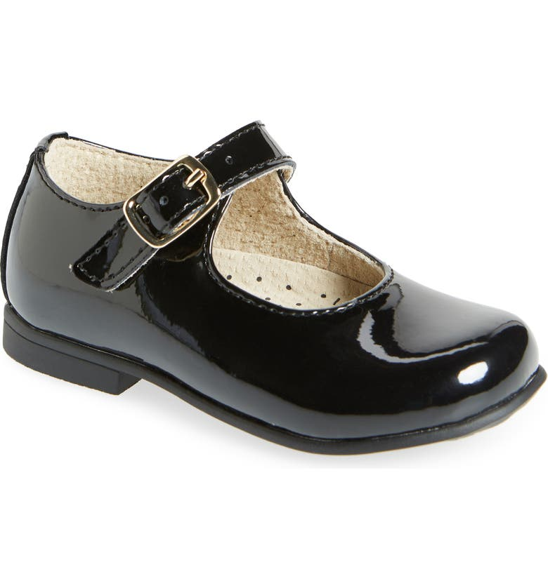 FOOTMATES Laura Mary Jane Shoe, Main, color, BLACK PATENT