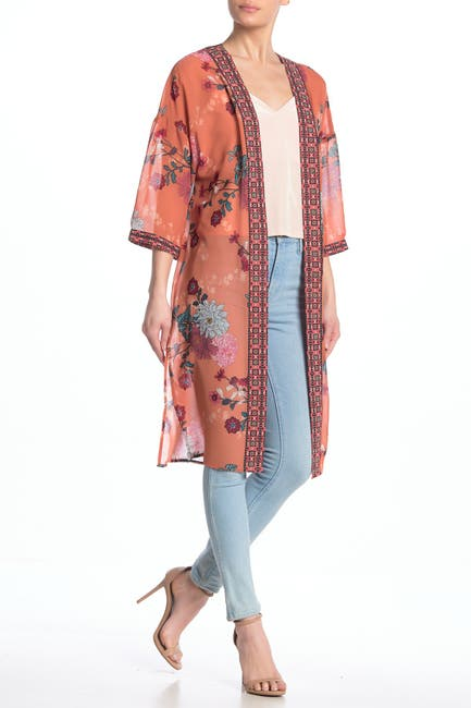 Image of DR2 by Daniel Rainn 3/4 Length Sleeve Kimono