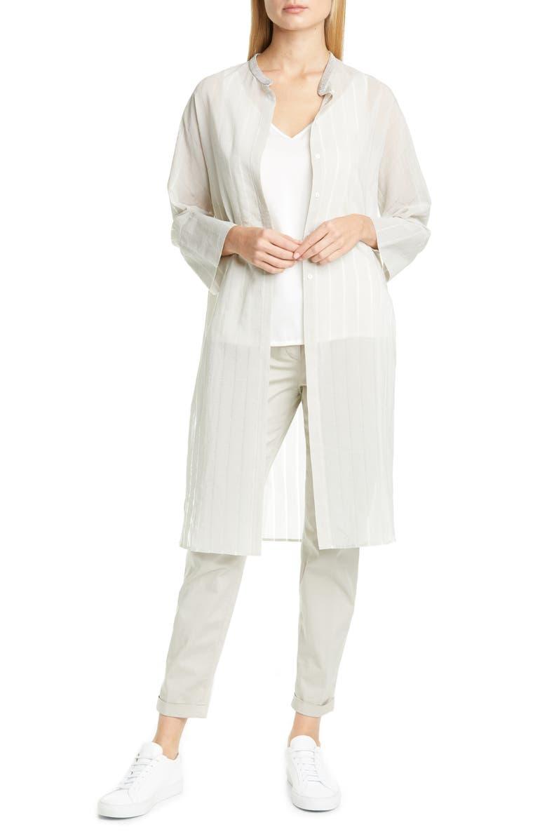 FABIANA FILIPPI Beaded Waist Skinny Pants, Main, color, LIGHT/ PASTEL GREY
