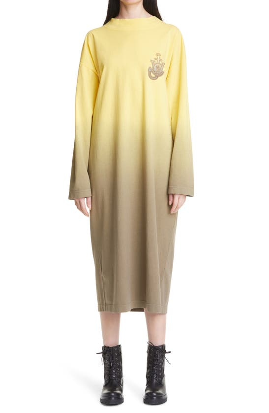 Moncler Genius 1 MONCLER JW ANDERSON DEGRADE DIP DYE LONG SLEEVE DRESS