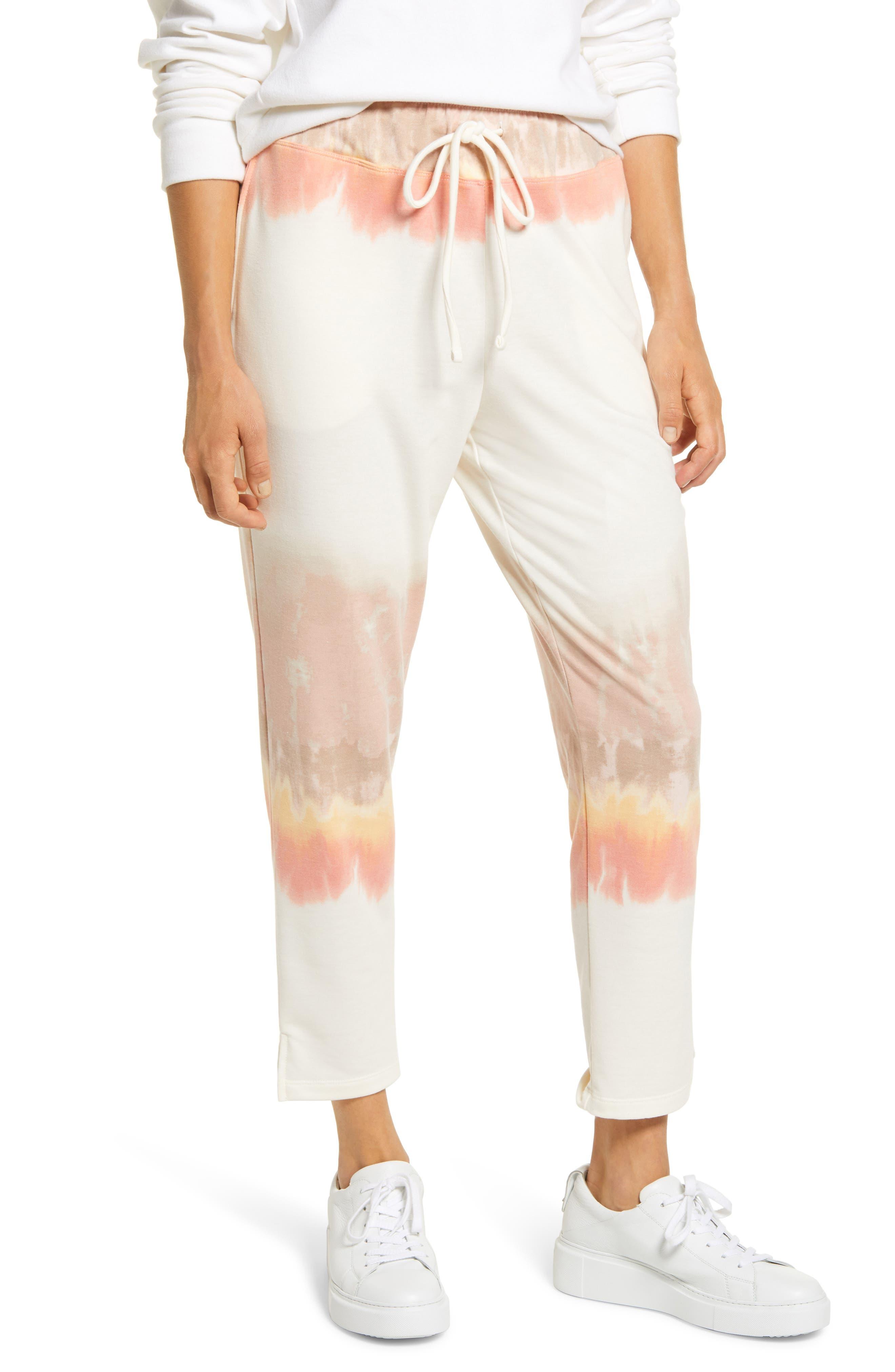 Image of Bobeau Pascale Tie Dye French Terry Crop Pants