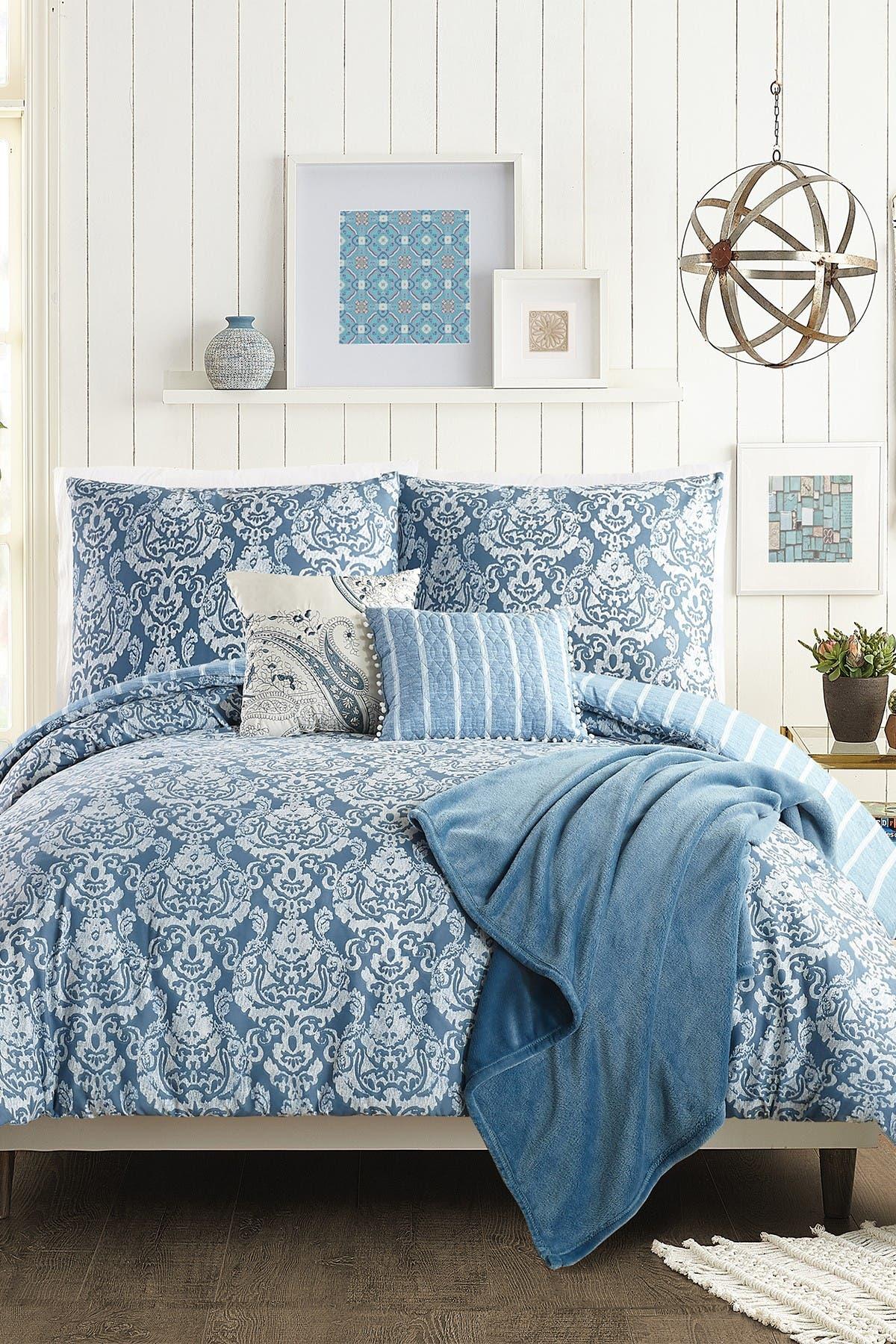 Image of Jessica Simpson Tonal Damask Full/Queen Comforter 6-Piece Set