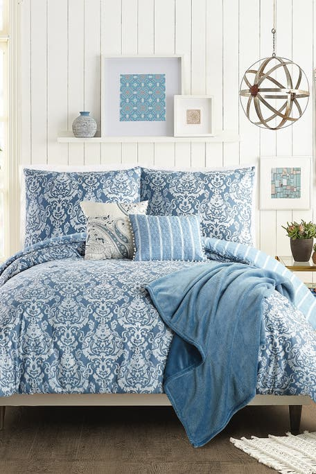 Jessica Simpson - Tonal Damask Full/Queen Comforter 6-Piece Set