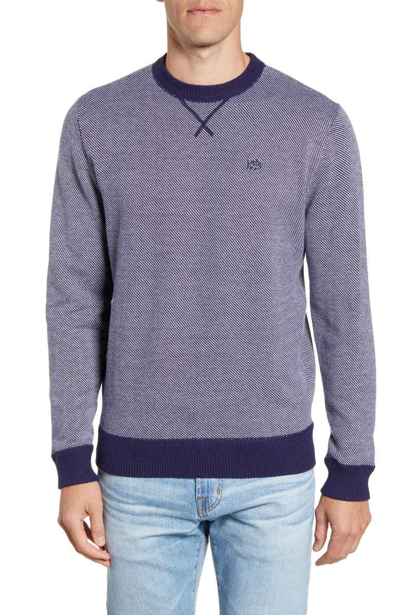 SOUTHERN TIDE Pacific Highway Classic Fit Sweater, Main, color, TRUE NAVY