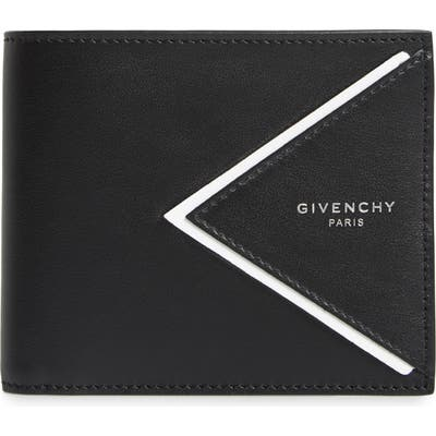Givenchy V-Shape Bifold Leather Wallet -